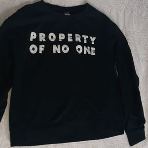 Property of No One Sweater